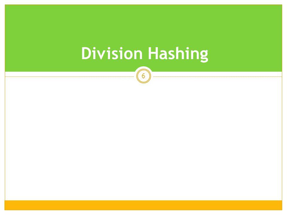6 Division Hashing