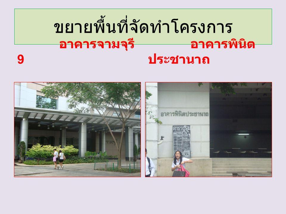 ขยายพื้นที่จัดทำโครงการ อาคารจามจุรี 9 อาคารพินิต ประชานาถ