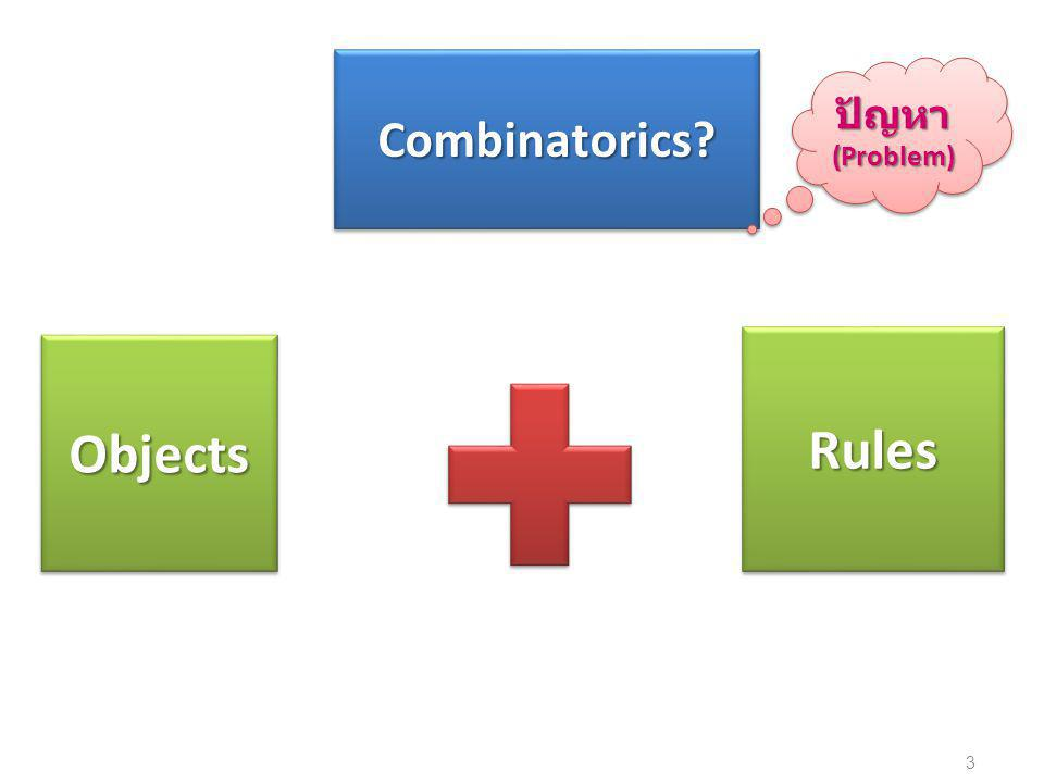 3 ObjectsObjects RulesRules Combinatorics Combinatorics ปัญหา(Problem)ปัญหา(Problem)