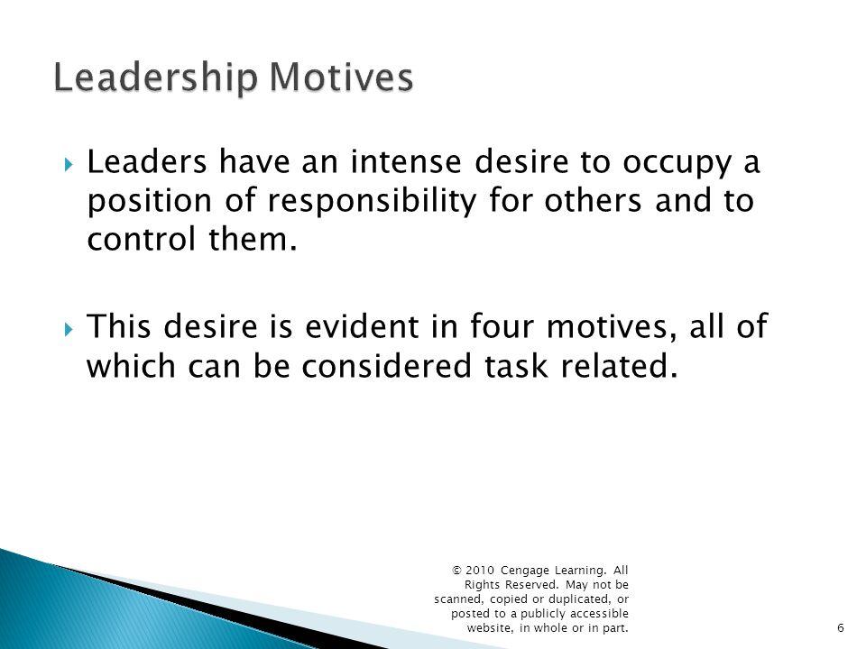7 Leadership Motives Leadership Motives