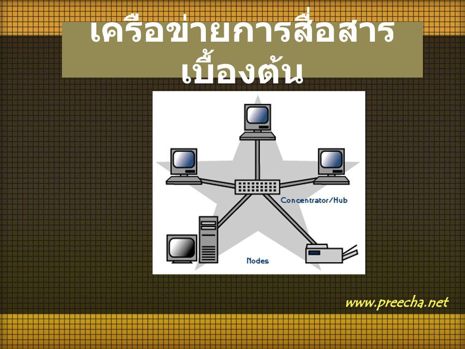 3 เครือข่ายการสื่อสาร เบื้องต้น
