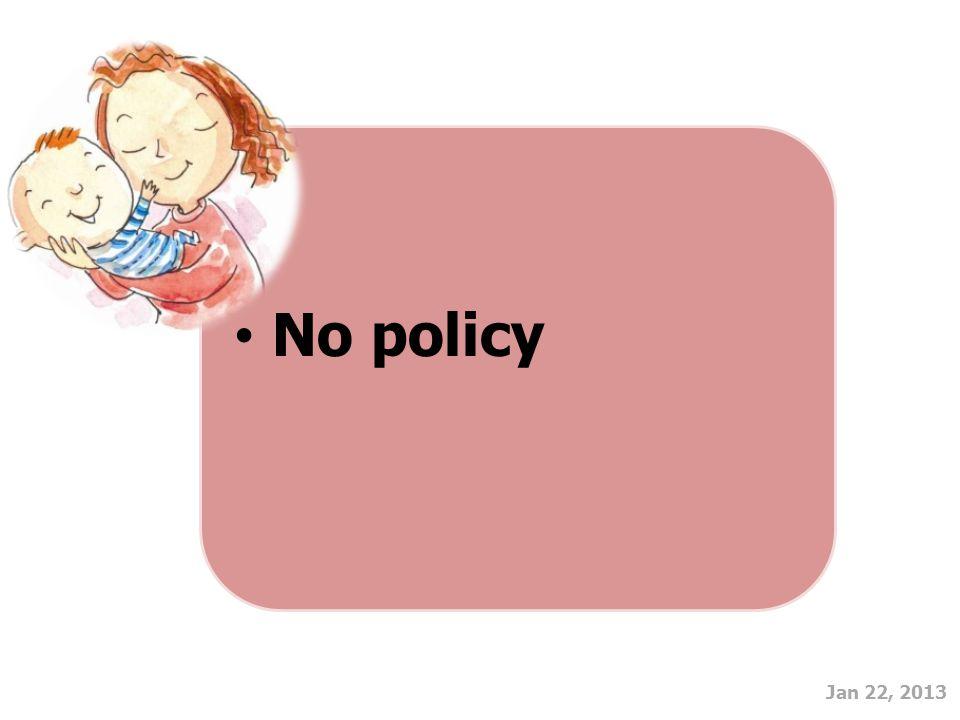 Jan 22, 2013 No policy