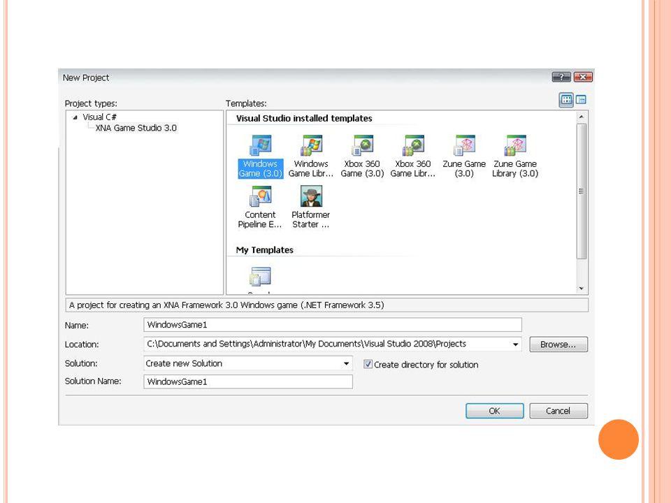 การใช้ XACT ก่อนจะใช้ก็ต้องเปิดโปรแกรมก่อน XACT จะถูกติดมาพร้อม XNA อยู่ในส่วนของ tool