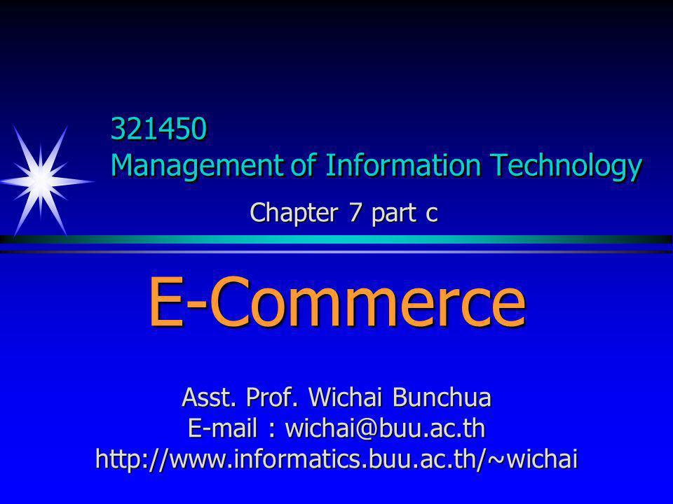 20 October 2010wichai@buu.ac.th3 E-CommerceE-Commerce