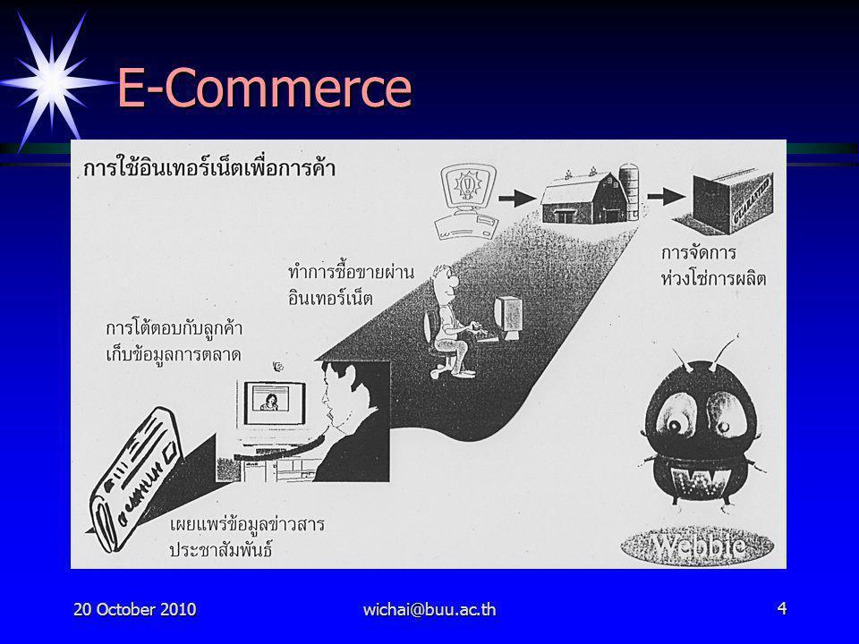 20 October 2010wichai@buu.ac.th5 E-Commerce คือ อะไร