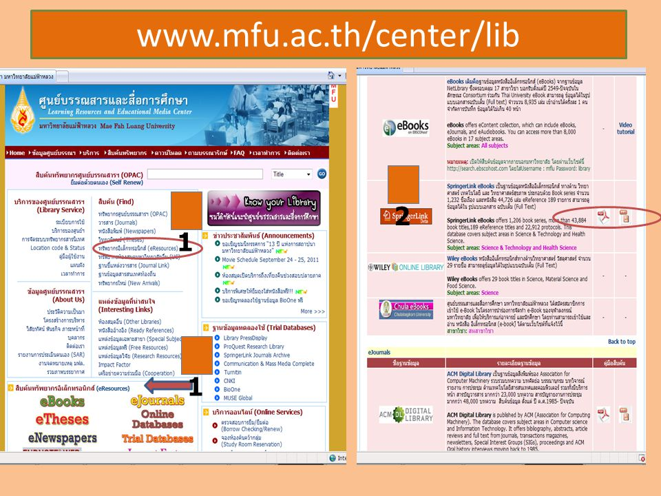 www.mfu.ac.th/center/lib 1 3 1 2