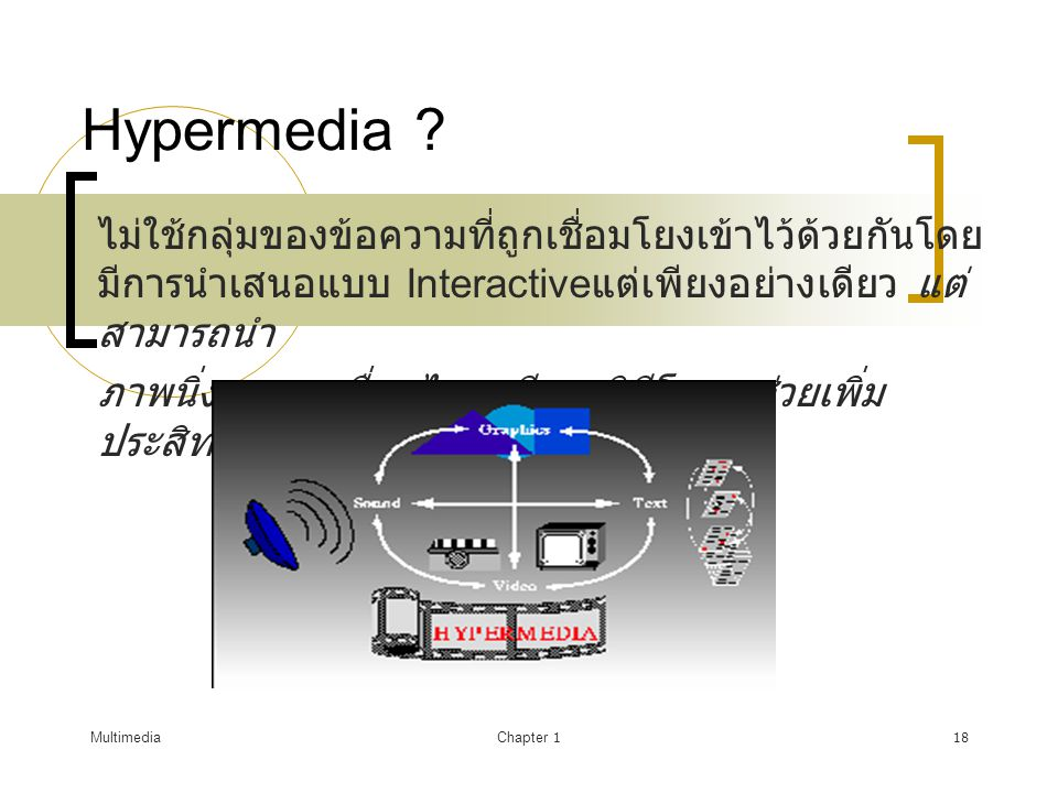 MultimediaChapter 119 Hypertext and Hypermedia Multimedia Hypertext Hypermedia