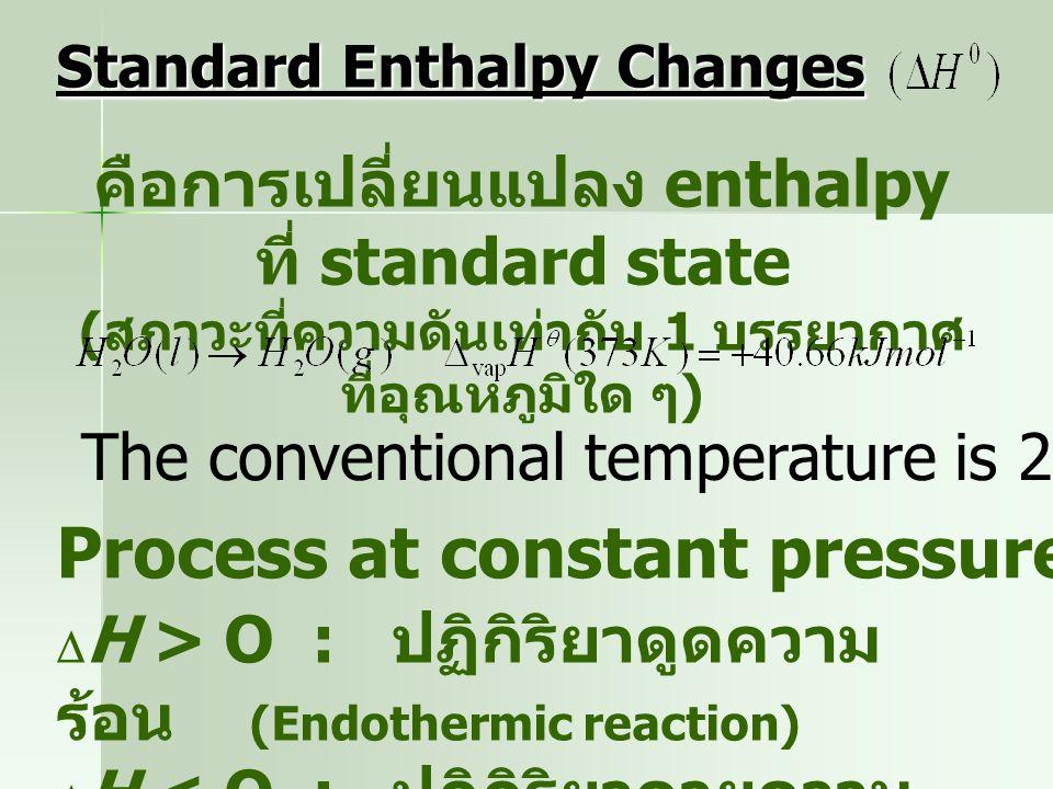 Thermochemistry การศึกษาถึงการดูดหรือคายความร้อนของ ระบบเมื่อเกิดการเปลี่ยนแปลงในรูป ปฏิกิริยาเคมี   Exothermic process: คายพลังงานใน รูปความร้อน 