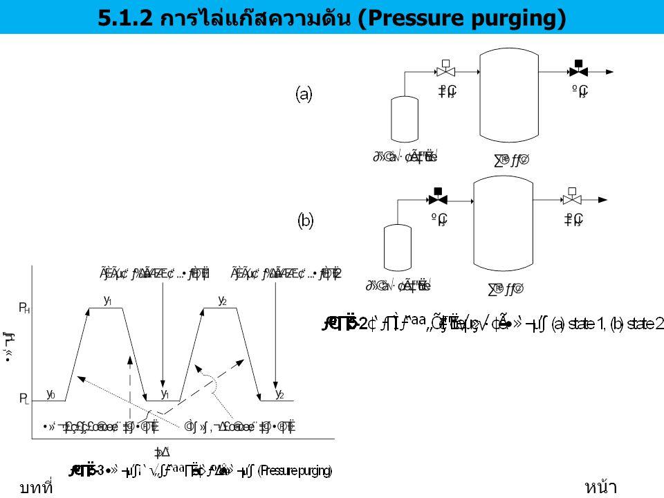 5.1.2 การไล่แก๊สความดัน (Pressure purging) บทที่ 5 หน้า 7/35