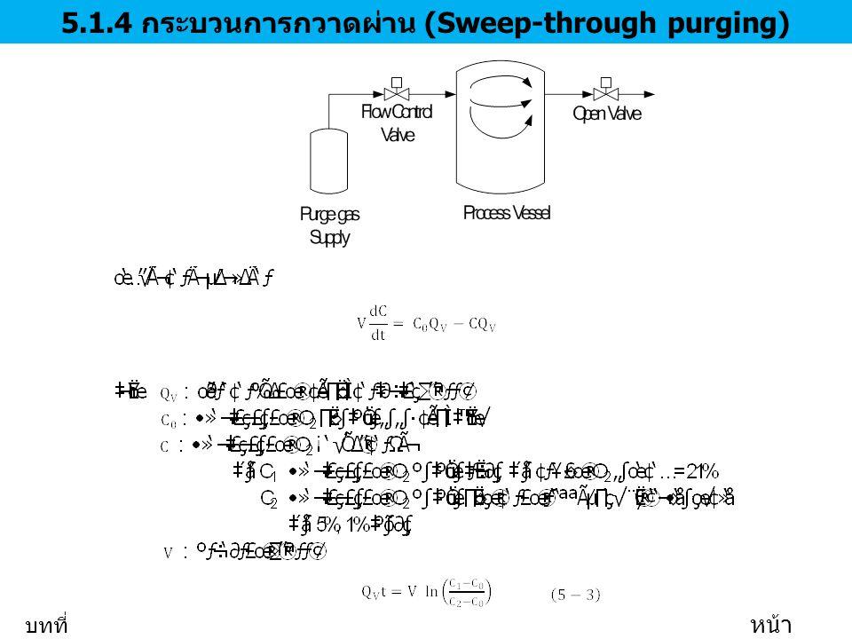 5.1.4 กระบวนการกวาดผ่าน (Sweep-through purging) บทที่ 5 หน้า 11/35