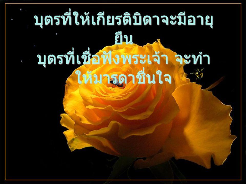 ใครเคารพนับถือบิดาก็จะประสบความสุขสันต์หรรษากับบุตรของตนเอง ในวาระที่เขาภาวนาอ้อนวอน พระเจ้าก็จะสดับฟัง