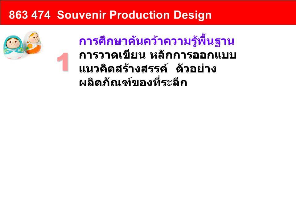 863 474 Souvenir Production Design การศึกษาค้นคว้าความรู้พื้นฐาน การวาดเขียน หลักการออกแบบ แนวคิดสร้างสรรค์ ตัวอย่าง ผลิตภัณฑ์ของที่ระลึก 1