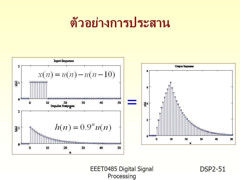 EEET0485 Digital Signal Processing Asst.Prof. Peerapol Yuvapoositanon DSP2-51 ตัวอย่างการประสาน =