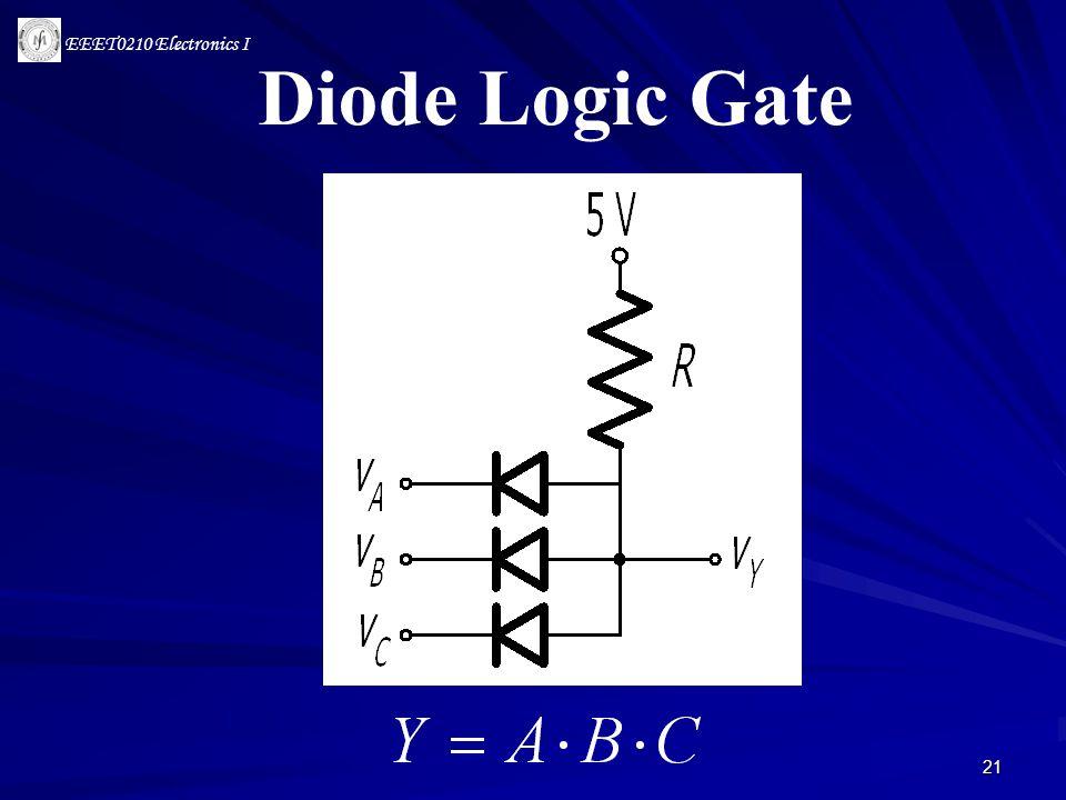 EEET0210 Electronics I 21 Diode Logic Gate