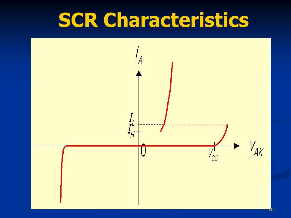 10 SCR Characteristics