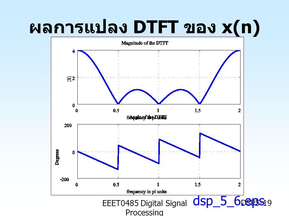 EEET0485 Digital Signal Processing DSP5-19 ผลการแปลง DTFT ของ x(n) dsp_5_6.eps