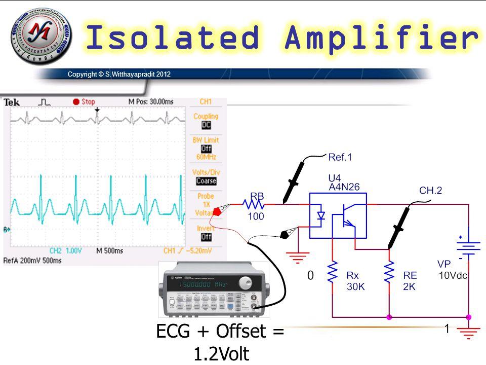 ECG + Offset = 1.2Volt