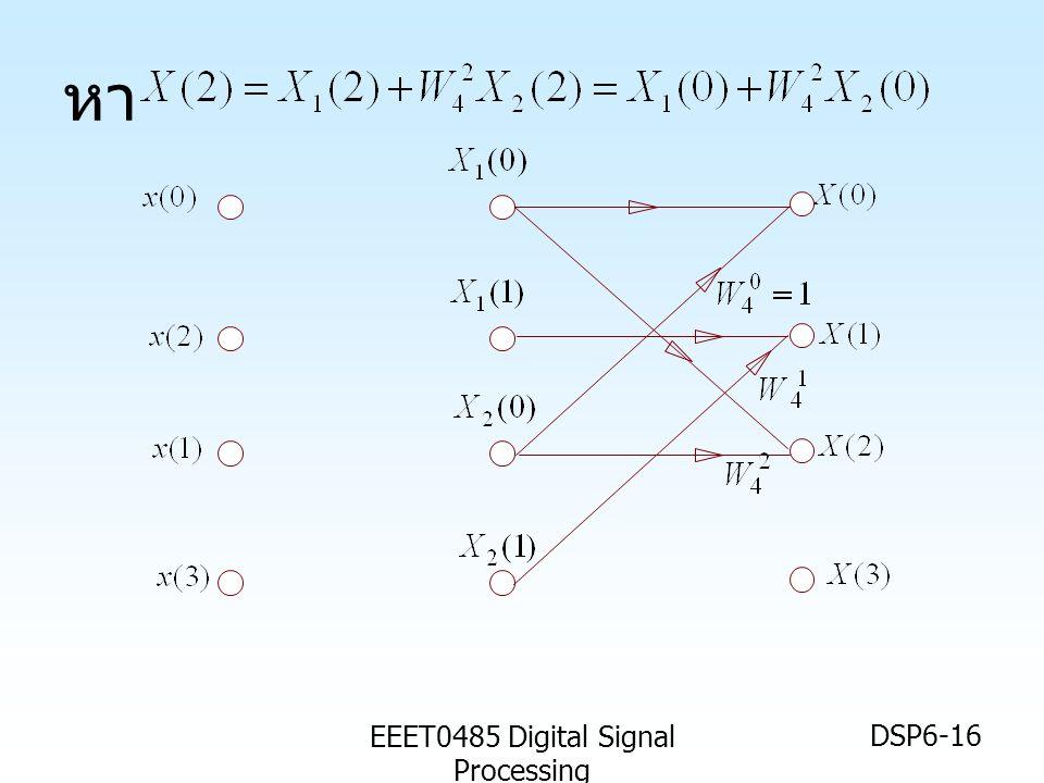 EEET0485 Digital Signal Processing DSP6-16 หา