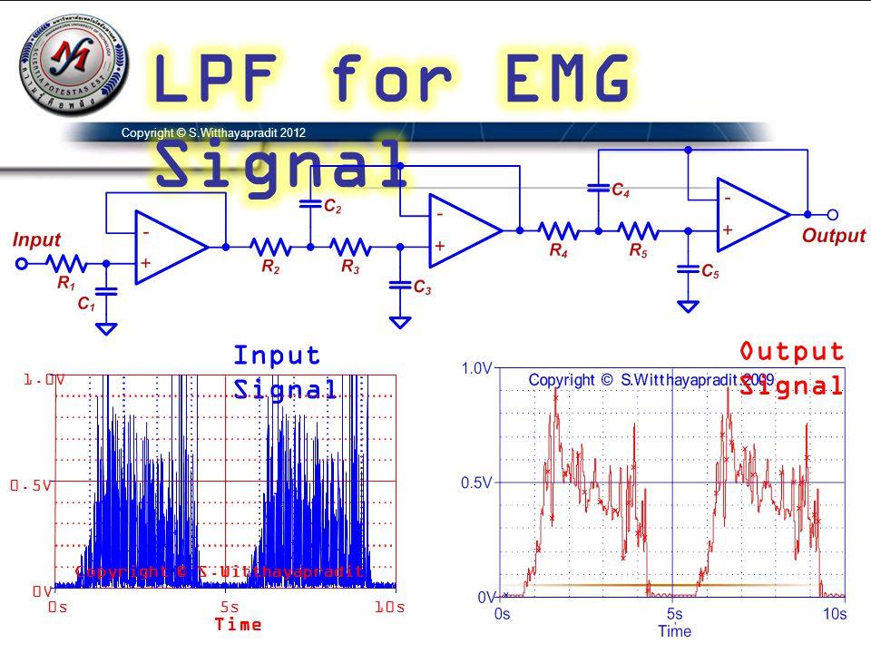 Copyright © S.Witthayapradit 2012 Input Signal Output Signal