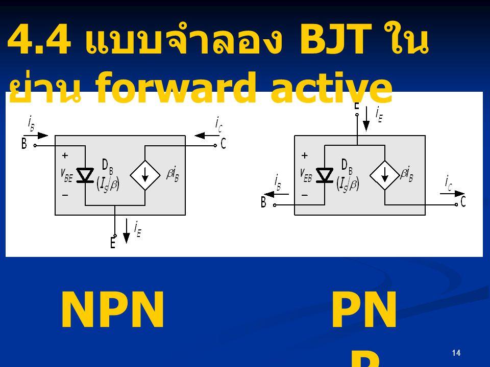 14 NPNPN P 4.4 แบบจำลอง BJT ใน ย่าน forward active
