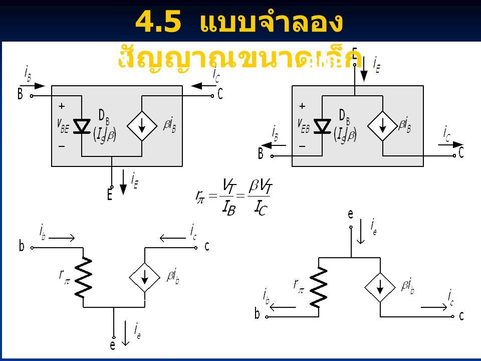 18 4.5 แบบจำลอง สัญญาณขนาดเล็ก NPN PNP