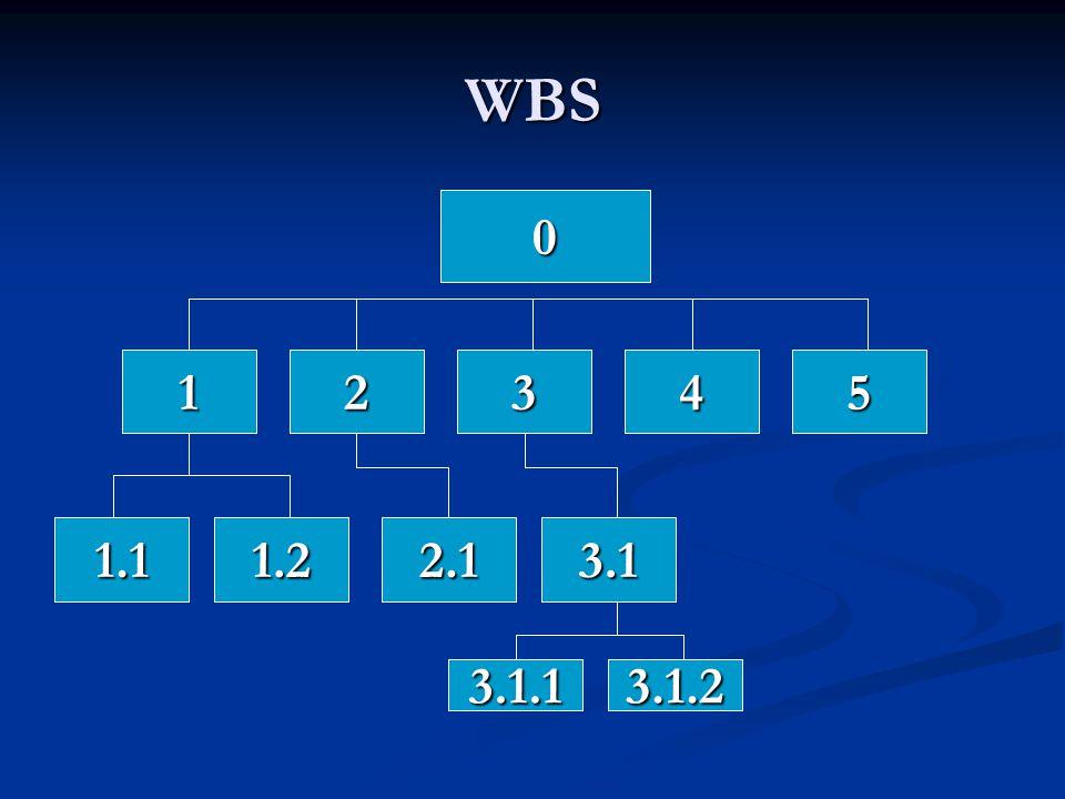 WBS 0 12345 1.11.22.13.1 3.1.13.1.2