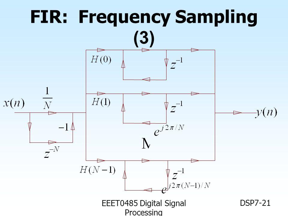 EEET0485 Digital Signal Processing DSP7-21 FIR: Frequency Sampling (3)