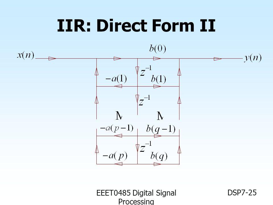 EEET0485 Digital Signal Processing DSP7-25 IIR: Direct Form II