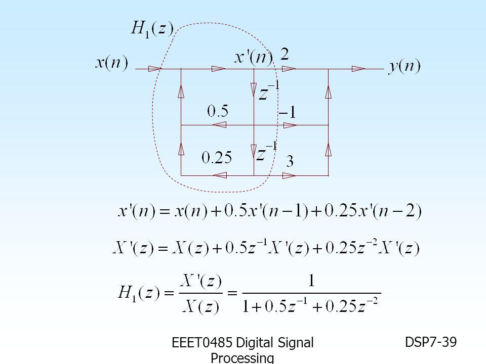 EEET0485 Digital Signal Processing DSP7-39