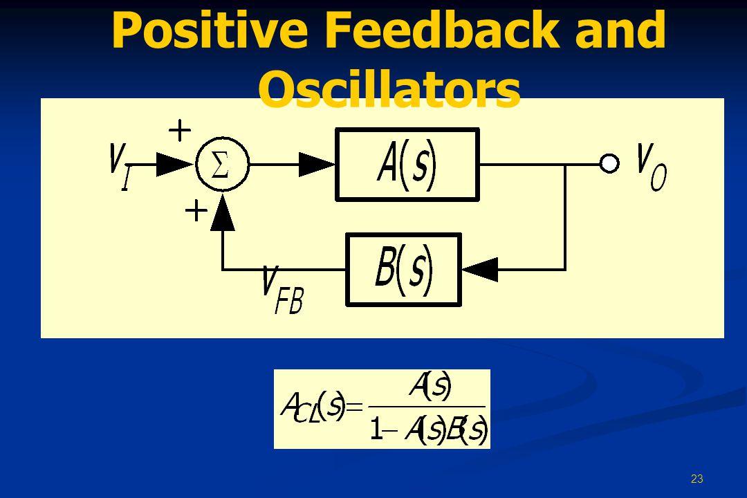23 Positive Feedback and Oscillators