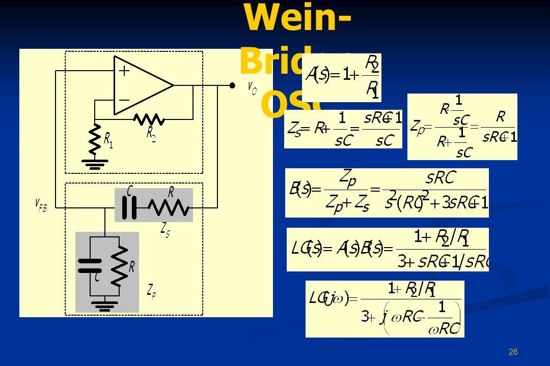 26 Wein- Bridge OSC