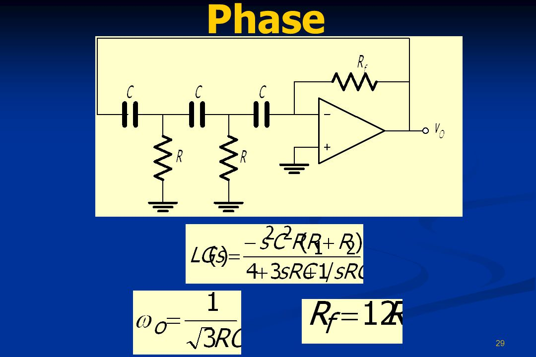 29 Phase Shift OSC