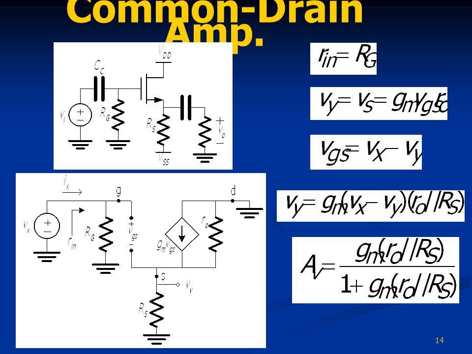 14 Common-Drain Amp.