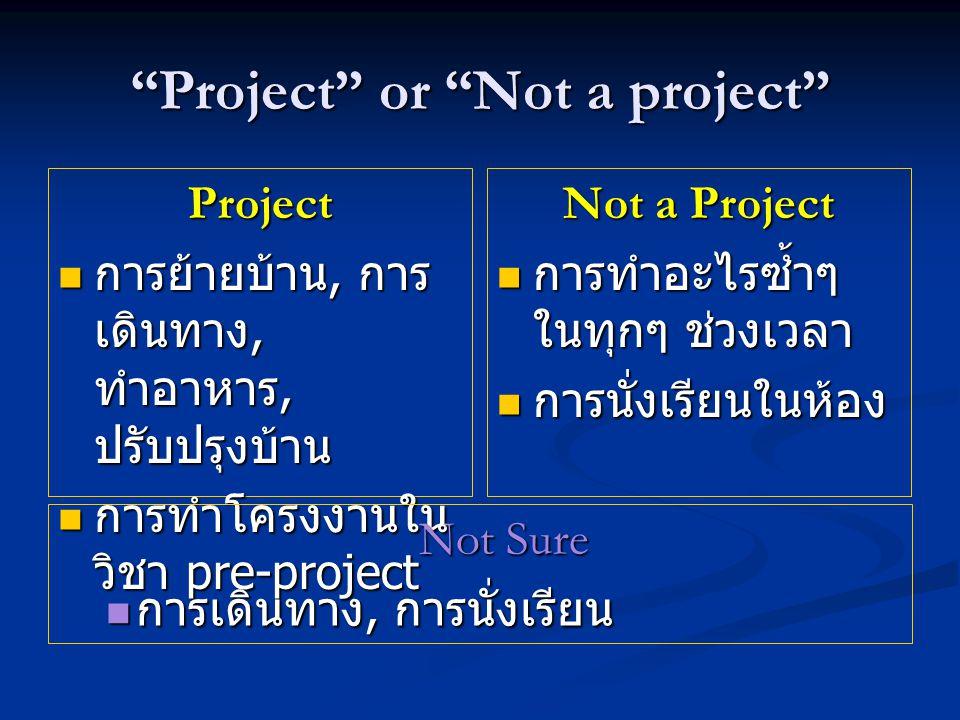 The Project Development Process  กำหนดความต้องการ (Requirements and Specifications)  ออกแบบ (Design)  พัฒนา หรือ ลงมือทำ (Development)  ทดสอบ (Testing)  เผยแพร่และจัดทำเอกสาร (Distribution and Documentation)