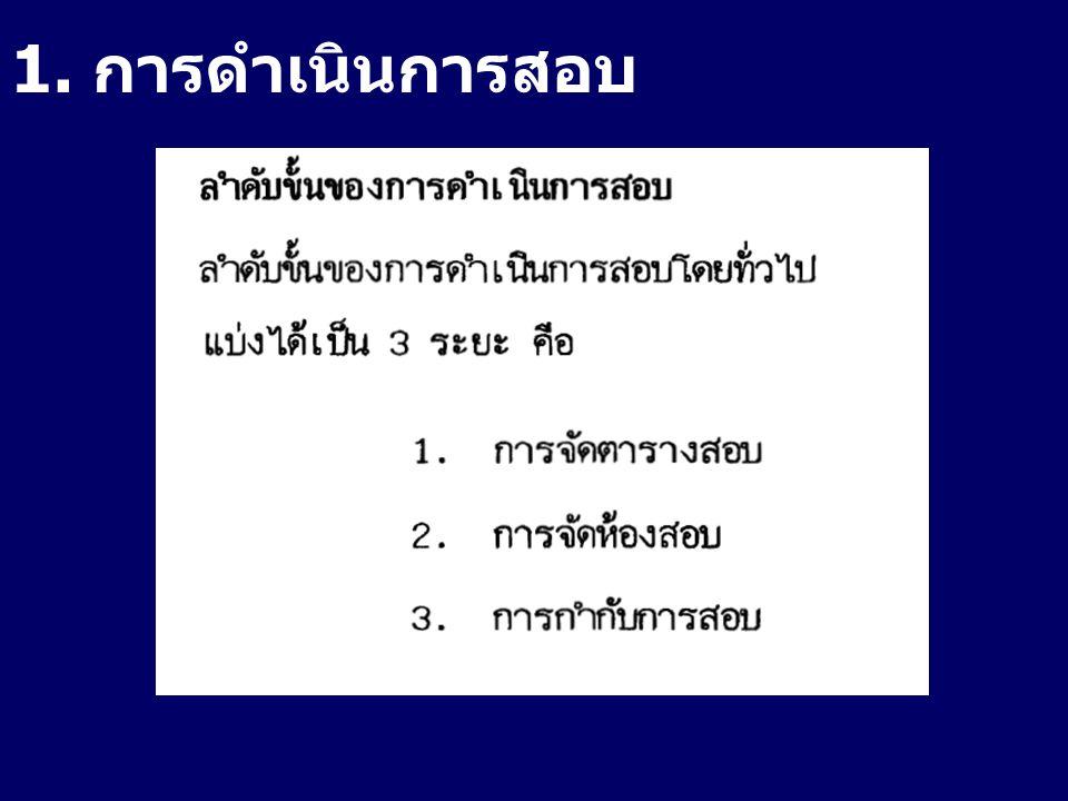 2. การจัดตารางสอบ
