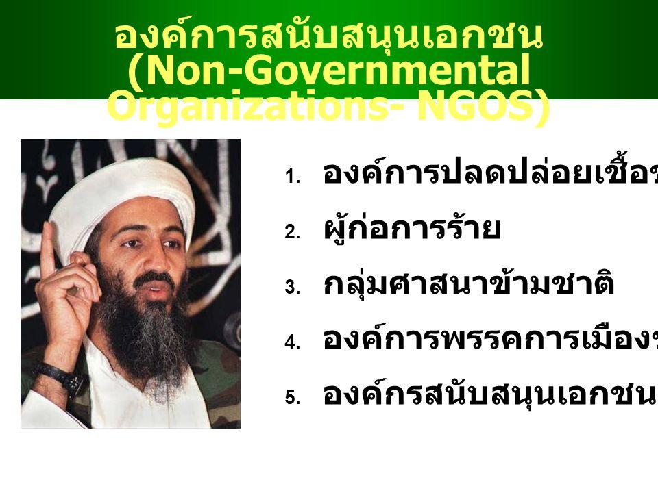 องค์การสนับสนุนเอกชน (Non-Governmental Organizations- NGOS) 1.