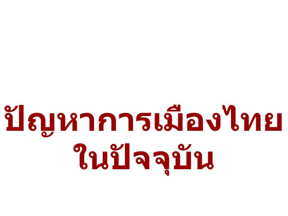 ปัญหาการเมืองไทย ในปัจจุบัน