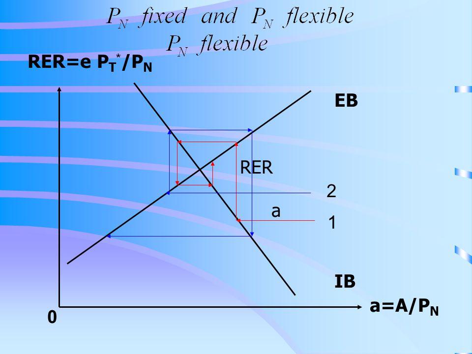 RER=e P T * /P N a=A/P N 0 IB EB a RER 1 2