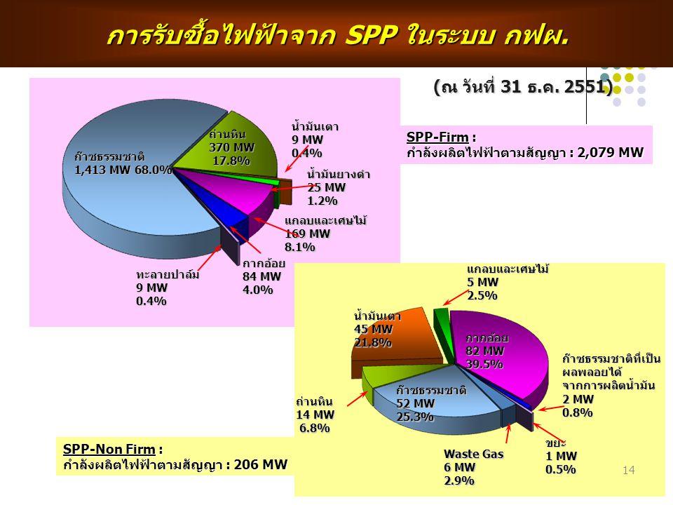 ก๊าซธรรมซาติ 1,413 MW 68.0% ถ่านหิน 370 MW 17.8% น้ำมันเตา 9 MW 0.4% น้ำมันยางดำ 25 MW 1.2% ทะลายปาล์ม 9 MW 0.4% แกลบและเศษไม้ 169 MW 8.1% กากอ้อย 84