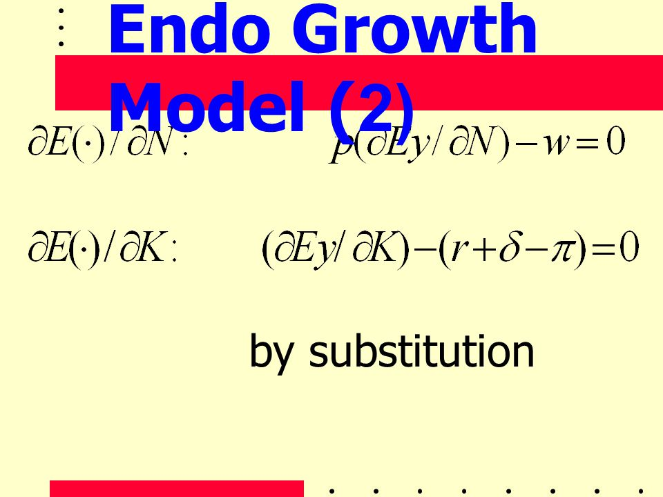 by substitution Endo Growth Model (2)