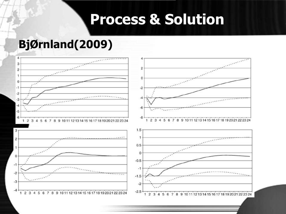 Process & Solution BjØrnland(2009)