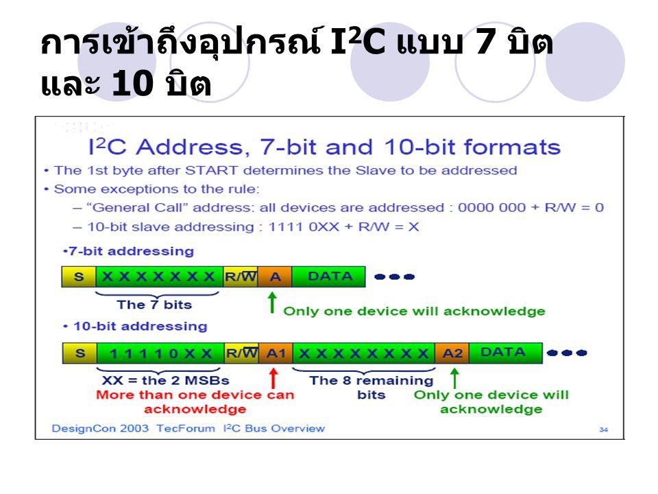 การเข้าถึงอุปกรณ์ I 2 C แบบ 7 บิต และ 10 บิต