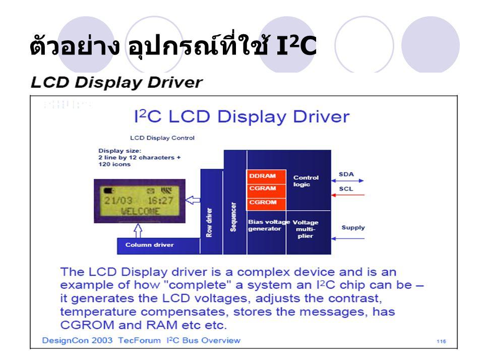 ตัวอย่าง อุปกรณ์ที่ใช้ I 2 C