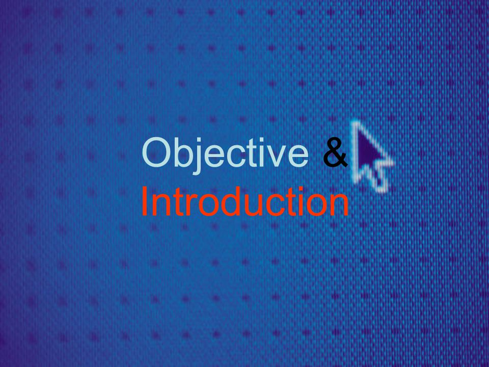 Objective & Introduction