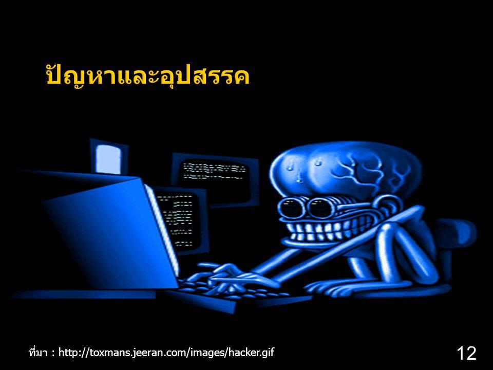 12 ที่มา : http://toxmans.jeeran.com/images/hacker.gif