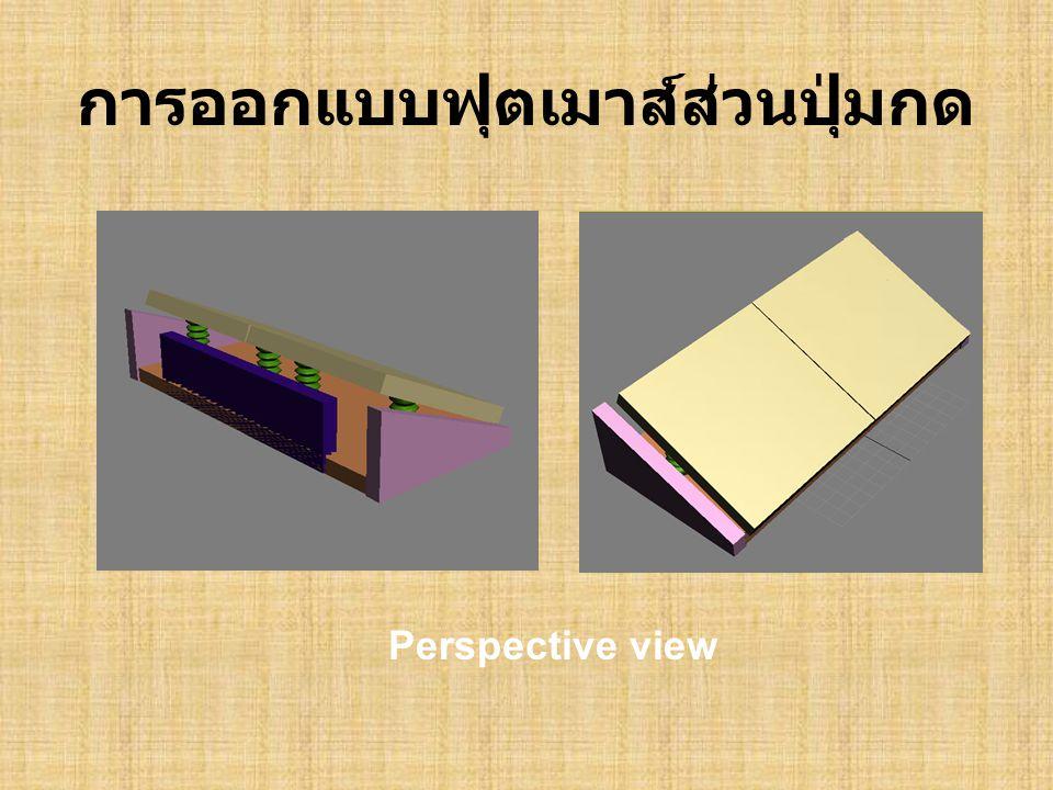 การออกแบบฟุตเมาส์ส่วนปุ่มกด Perspective view