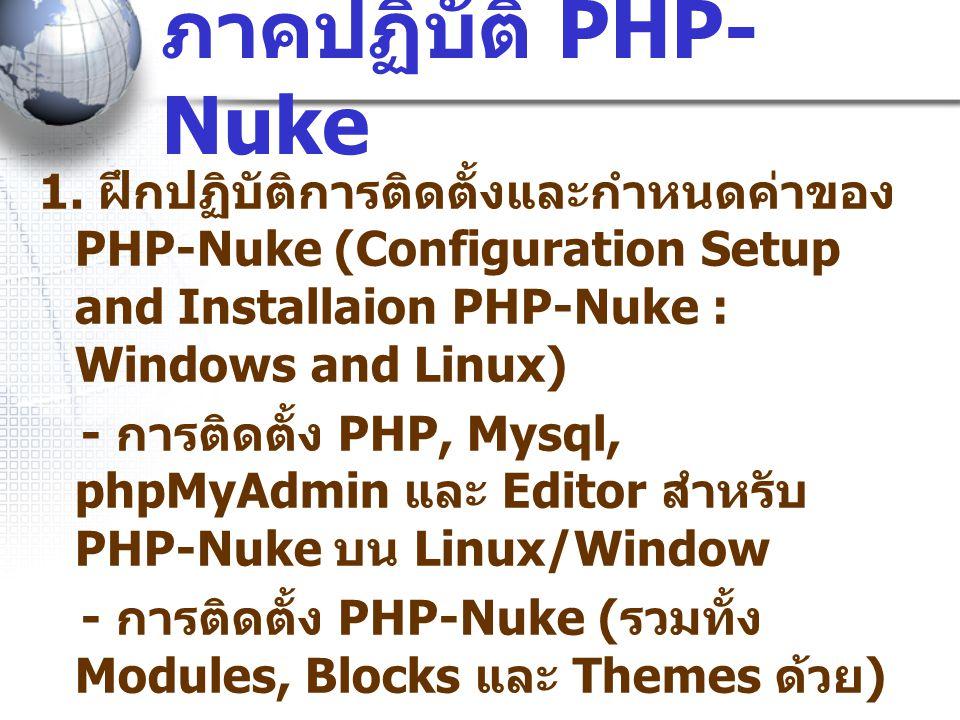 ภาคปฏิบัติ PHP- Nuke 1.