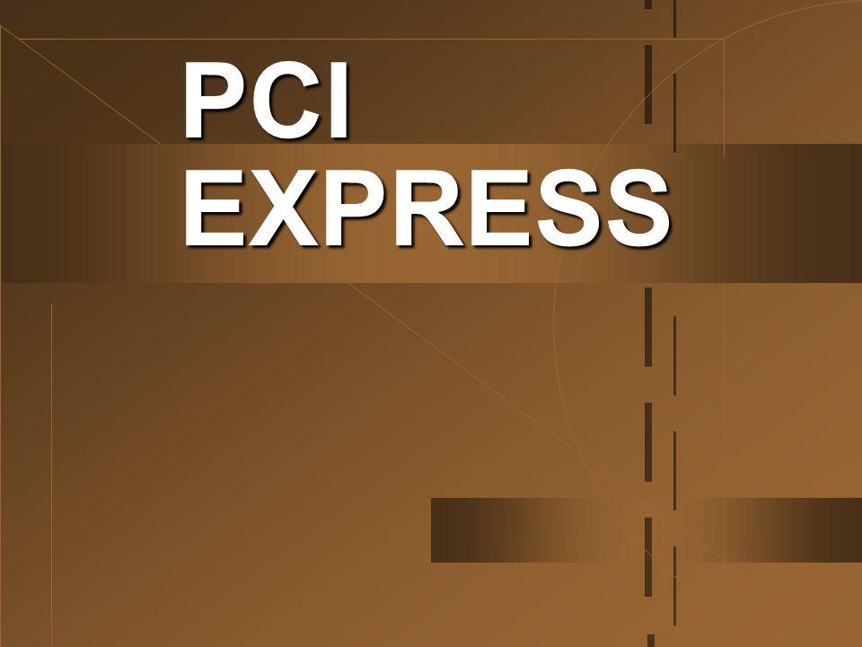 PCI Express นั้นเป็นบัสที่ทำงานแบบ Serial และสามารถเลือกใช้ความเร็วมากน้อยตาม ต้องการได้ โดยแบ่งออกเป็นช่องสัญญาณ (channel) หรือ lane ของ PCI ซึ่งจะมีความเร็ว ในการรับส่งข้อมูลแต่ละทิศทาง 250 MB/sec และ รวมสองทาง (Full-Duplex) สูงถึง 500 MB/sec ซึ่งขั้นต่ำสุดเรียกว่า PCI Express x1 ถูก ออกแบบให้มาแทนที่ PCI Bus แบบเดิม ประกอบด้วย 1 lane สล็อตก็จะสั้นหน่อย ส่วนขั้น ถัดไปจะมีความเร็วเพิ่มขึ้นเป็น 2, 4, 8 และ 16 เท่า ตามลำดับ ก็จะประกอบด้วย 2, 4, 8 และ 16 lane ที่รับส่งข้อมูลพร้อมกัน สล็อตก็จะยาวขึ้น ( มีขั้วต่อ มากขึ้น ) เรียกว่าเป็น PCI Express x2, x4, x8 และสูงสุดคือ PCI Express x16 ที่เร็วถึง 8 GB/sec ซึ่งจะมาแทนที่สล็อตแบบ AGP 8x ที่ใช้ กันอยู่ในปัจจุบัน นอกจากนี้ด้วยข้อจำกัดที่มีมา นมนาน เมนบอร์ดส่วนใหญ่จะสามารถมีสล็อต AGP ได้เพียงสล็อตเดียวเท่านั้น แต่สำหรับ มาตรฐานใหม่อย่าง PCI Express x16 ที่จะมา แทนที่สล็อต AGP แบบเดิมนั้นจะสามารถมีได้ มากกว่า 1 ช่องบนเมนบอร์ดเดียวกัน PCI EXPRESS