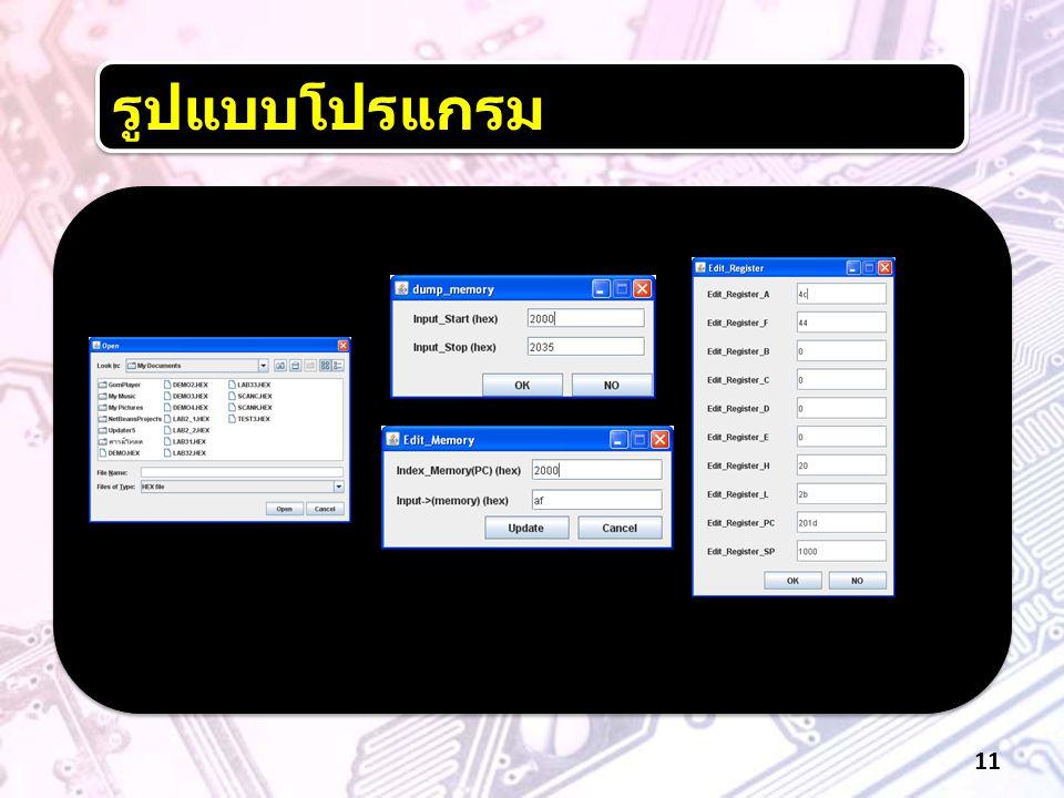 รูปแบบโปรแกรม 11