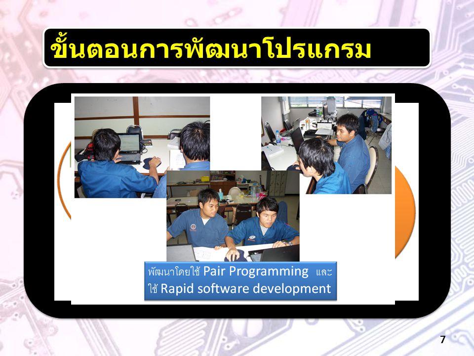 ขั้นตอนการพัฒนาโปรแกรม 7
